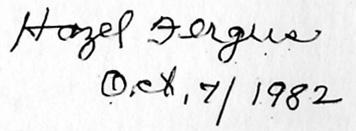 Hazel signature