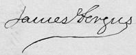 James Fergus signature