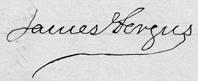 James Fergus signature