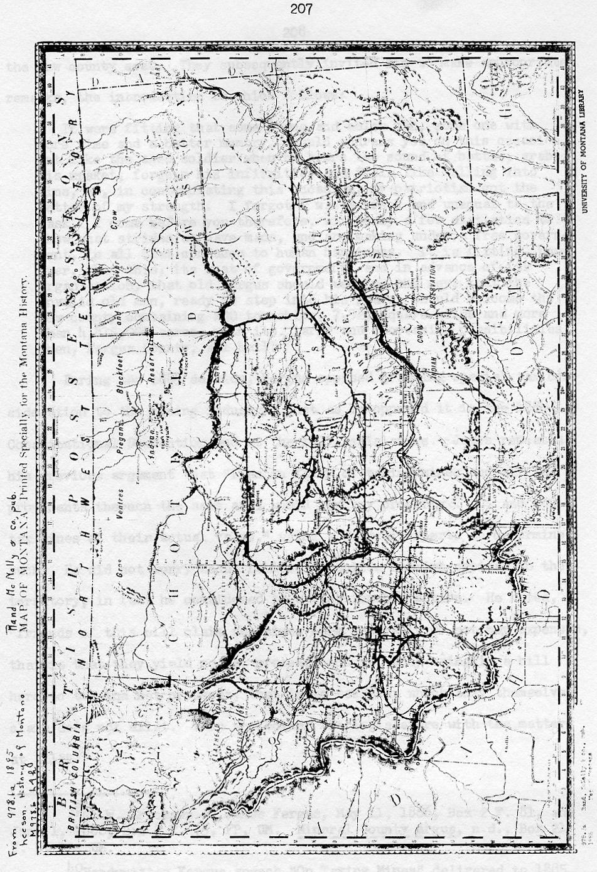 map of Montana 1885